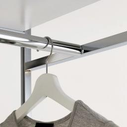 Lenato(レナート) ハンガーラック 幅62cm 耐荷重約50kgの強度の高いクロムメッキ仕上げのスチールパイプを使用しています。お手持ちの衣類をたっぷり掛けられます。