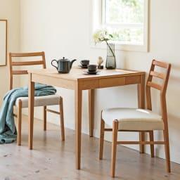 Blossom/ブロッサム ダイニングシリーズ ダイニングテーブル 幅75cm テーブル 時間とともに味わいを深めるチェリー材をご自宅で