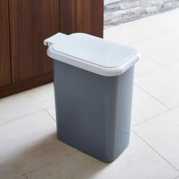Gamlin/ガムリン 家具調ダストボックス 2分別 ごみ箱ペールにはふたがついているので臭いが漏れにくいです