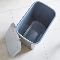 Gamlin/ガムリン 家具調ダストボックス 2分別 プラスチック製のダストペールだから水洗いできてお掃除が簡単