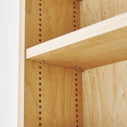 天然木調スライド式すき間収納本棚 コミック・文庫本タイプ 可動棚板は1cmピッチで高さ調節可能。ムダな空間を作りません。 ※お届けの色とは異なります。