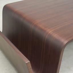 Poski/ポスキ デザインリビングテーブル ナチュラル ブックラック部分アップ