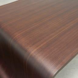 Poski/ポスキ デザインリビングテーブル ナチュラル ※写真はウォルナット。 天板は天然木の質感を感じられる化粧板で仕上げています。