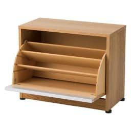 座れるシューズ収納ベンチ 幅60cm お届けの商品です。最大約9足収納できます。