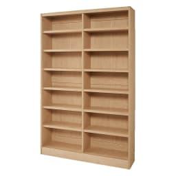 棚板の位置が選べる本棚(幅118cm本体高さ180cm) 商品イメージ:(イ)ナチュラル