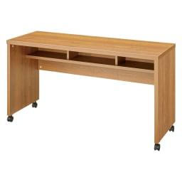 リビングテーブルワゴン 幅120cm (ア)ブラウン 収納部内寸サイズ(幅37奥行20高さ13cm)×3ヵ所