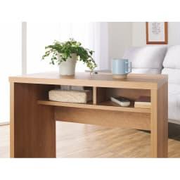リビングテーブルワゴン 幅120cm リモコン、スマホ、雑誌などを収納。すっきりと片づきます。