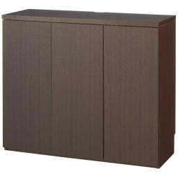 ダイニングテーブルから見やすいハイタイプテレビシリーズ  薄型キャビネット3枚扉  幅89.5cm (ア)ダークブラウン