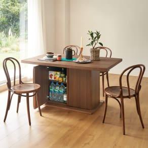 Portale/ポルターレ 収納庫付きテーブル 幅170cm 写真