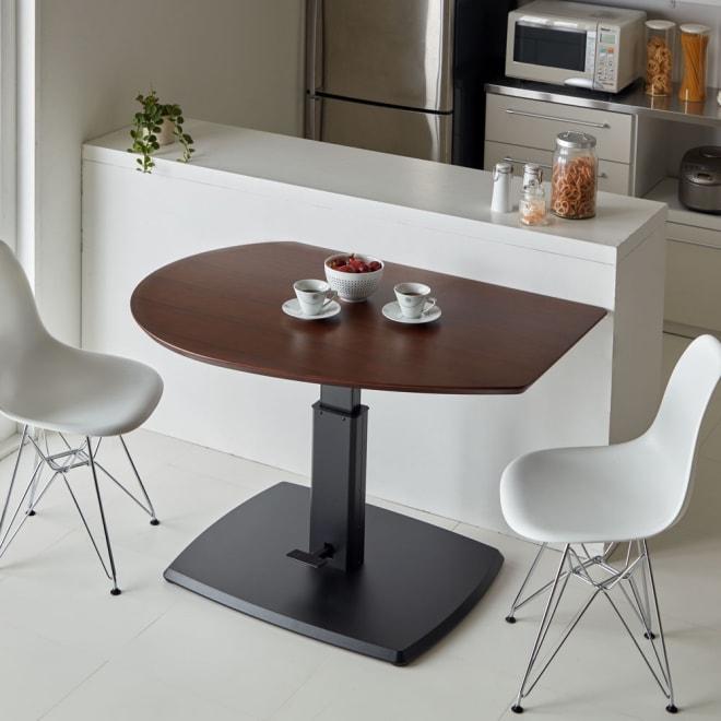 コミュニケーション昇降式テーブル コーディネート例(高さ73cm時) ※チェアは商品に含まれません。