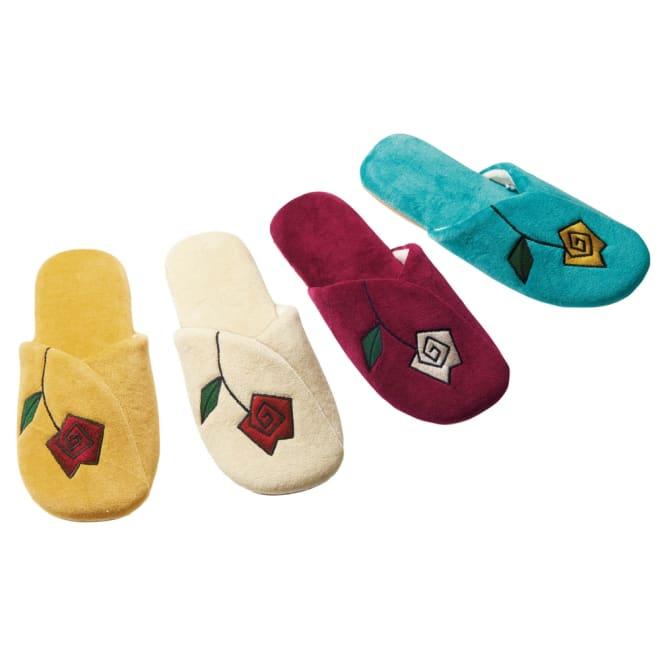 シビラ パオラスリッパ 色が選べる2足組 左から(ア)イエロー(イ)ベージュ(ウ)ワインレッド(エ)ブルー