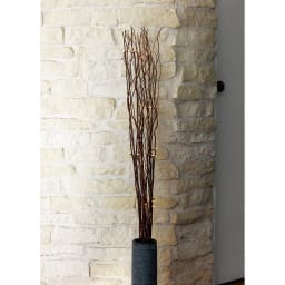 LEDボタニックブランチ 1個 コーディネート例(イ)ブラウン(点灯時) 本物の木を使用しているため、1点1点サイズ等が若干異なります。