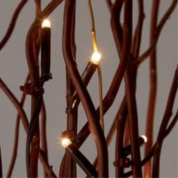 LEDボタニックブランチ 1個 (イ)ブラウン(点灯時)