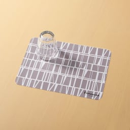 Finlayson/フィンレイソン 樹脂製ランチョンマット 同色4枚組 小(34×24cm) (イ)コロナ(グレー)