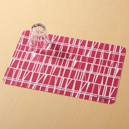 Finlayson/フィンレイソン 樹脂製ランチョンマット 同色4枚組 大(45×30cm) (ア)コロナ(レッド)
