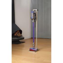 スティッククリーナースタンド プレミアムモデル セット(スタンド+収納力アップパーツ3個組)(シャンパンゴールド) ダイソン使用時