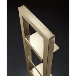 スティッククリーナースタンド プレミアムモデル セット(スタンド+収納力アップパーツ3個組)(シャンパンゴールド) 細部まで丁寧に仕上げたつくりは日本製ならでは。