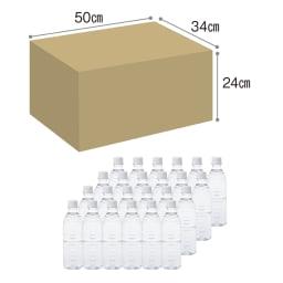 ハンコを押すだけでロックがかかる宅配ボックス 500mlのペットボトル24本入りの箱がすっぽり収まるサイズです。