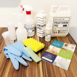 業務用洗剤 いいとこ取り3点セットプロ 標準3点セット ホワイトラベル スプレーボトルやスポンジなど、付属品も充実!