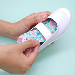 【ネームオーダー】名入れインソール(靴の中敷き) 2足セット 14~18cm(片足2枚ずつ、計4枚) あとは靴の中に敷くだけ。インソールを入れても靴がきつくなりにくい薄型タイプです。