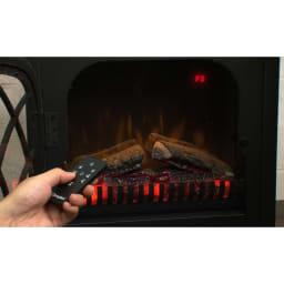 Dimplex/ディンプレックス 電気暖炉ファンヒーター リッツ2 気分やシーンに合わせて炎を5段階で調節可能!かすかな灯のような炎から大きくゆらめく炎まで楽しめます。