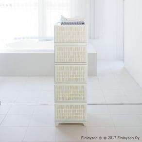 4段スリム(フィンレイソン 水に強い樹脂製多段チェスト) 写真