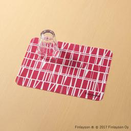Finlayson/フィンレイソン 樹脂製ランチョンマット 同色4枚組 小(34×24cm) (ア)コロナ(レッド)
