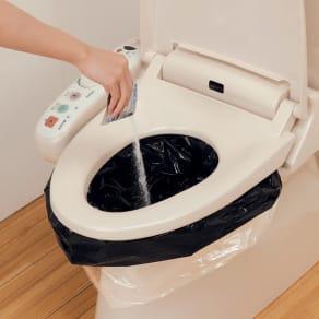 緊急用 トイレ袋50回分水漏れ防止袋付き 写真