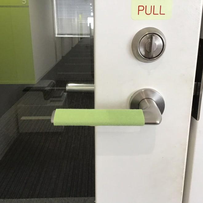 接触感染対策テープ (ア)グリーン