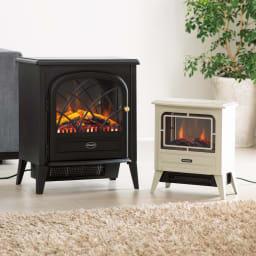 Dimplex/ディンプレックス 電気暖炉ファンヒーター リッツ2 左:本格派サイズのリッツ2(ア)ブラック(※右はリッツ2ではございません。コンパクトサイズ:タイニー)