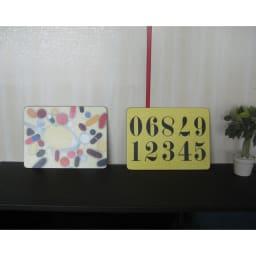 Eames/イームズ ランチョンマット 6枚組  このように壁にかけて絵の様にして使うのもお洒落
