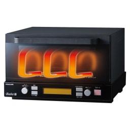 燻製もできるコンベクショントースター ディノス特典トレー付き 熱風の力で調理するから余熱いらず・・・背面に扇風機のような小さなファンがついているコンベクション機能で、ヒーターの熱を熱風として対流させ庫内温度を素早く均一に高温に。だから余熱無しでも短時間に焼き上げられます。