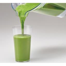 Vitamix/ヴァイタミックス 2L プロ750 シルバー(7年保証付き)下取りあり 【スムージー】繊維たっぷりの青汁も、裏ごしたかのようななめらかさ。