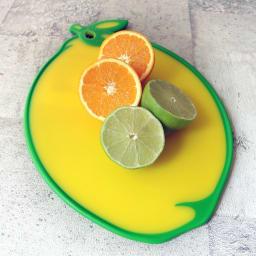 DEXAS カッティングボード フルーツ型のまな板 ウ)レモン