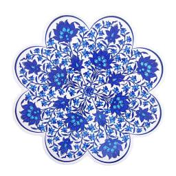 iznik トリベット トルコ製の鍋敷き ウ)ブルー