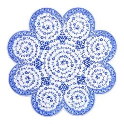 iznik トリベット トルコ製の鍋敷き (エ)ホワイト