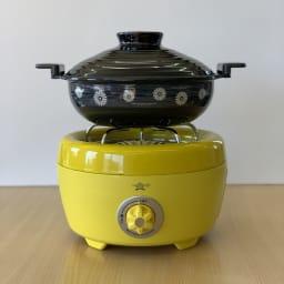 コンゴクアラジン Aladdin/アラジン カセットコンロ ヒバリン お手持ちの土鍋をのせて使用することもできます。