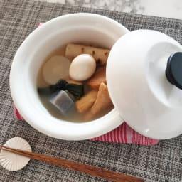 野田ホウロウ ココナベ 大 こちらは別売りの小サイズ。一人おでんの温め直しも簡単。