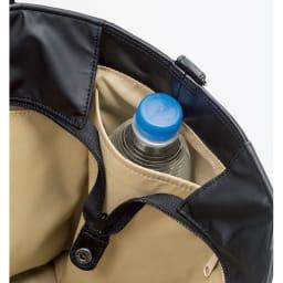 ヤマト屋 うすかるトートバッグ バッグの内側にはファスナーポケット、オープンポケット、携帯電話用ポケットのほか、両サイドにペットボトル・折りたたみ傘用のホルダーあり。荷物がごちゃごちゃにならない!