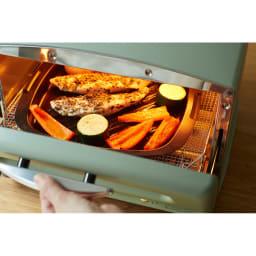 アラジン グリルアンドトースター 野菜と魚を同時に焼いて・・・