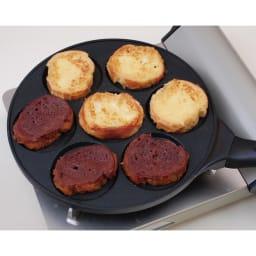 ホットケーキ パンケーキフライパン ガス火用 バゲットをフレンチトーストにしても!