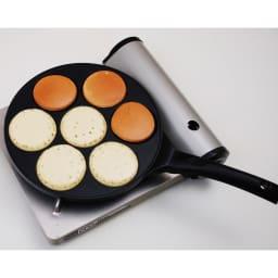 ホットケーキ パンケーキフライパン ガス火用 ホットケーキが一度に7枚!