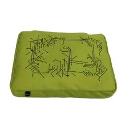 便利などこでもテーブルクッション 膝上トレー  (イ)ライムグリーン 裏面にもシリコン加工が施されているのでピロー自体も滑りにくい