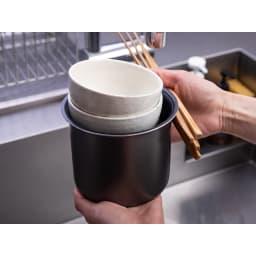 ミニライスクッカー 0.5~2合が炊飯できます! お茶碗と同じくらいのサイズ!