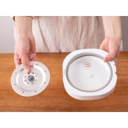 ミニライスクッカー 0.5~2合が炊飯できます! 隅々まで洗えます