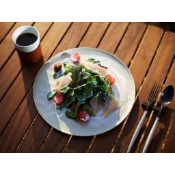 ARAS お皿27cm モアレ 割れないお皿 こちらは別売りのウェーブタイプです。