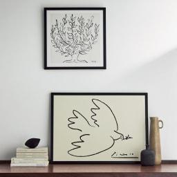 ピカソのアート はと (イ)ブラック お届けするのは下の「はと」です