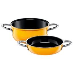 シリット Silit シラルガン コンビクック 10年保証付き 深鍋と浅鍋とガラス蓋1枚がセットになっています
