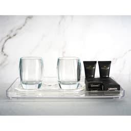 割れないグラスカラーランブラー ペアセット 洗面室で使用しても素敵です。※イメージ画像 ※お届けの商品とは異なります。