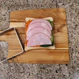 サンドウィッチガイド サンドイッチガイドを外しても崩れません!